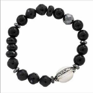 SILPADA 'Blackboard' Stretch Bracelet Agate